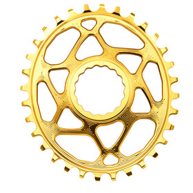 absoluteBLACK Oval Chainring Spiderless Boost148 for Race Face Cinch golden